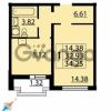 Продается квартира 1-ком 34 м² Парашютная улица 54, метро Комендантский проспект