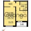 Продается квартира 1-ком 35 м² Парашютная улица 54, метро Комендантский проспект