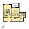 Продается квартира 1-ком 44 м² Парашютная улица 54, метро Комендантский проспект