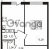 Продается квартира 1-ком 33.78 м² Гатчинское шоссе 7А, метро Проспект Ветеранов