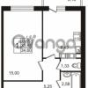 Продается квартира 1-ком 33.65 м² Гатчинское шоссе 7А, метро Проспект Ветеранов