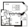 Продается квартира 1-ком 31.87 м² улица Пионерстроя 27, метро Проспект Ветеранов