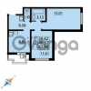 Продается квартира 2-ком 47 м² Парашютная улица 54, метро Комендантский проспект