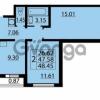 Продается квартира 2-ком 48 м² Парашютная улица 54, метро Комендантский проспект