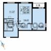 Продается квартира 2-ком 58 м² Парашютная улица 54, метро Комендантский проспект