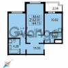 Продается квартира 2-ком 64 м² Парашютная улица 54, метро Комендантский проспект