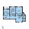Продается квартира 2-ком 64.16 м² Парашютная улица 54, метро Комендантский проспект
