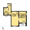 Продается квартира 1-ком 42.95 м² Парашютная улица 54, метро Комендантский проспект