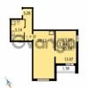 Продается квартира 1-ком 45.69 м² Парашютная улица 54, метро Комендантский проспект