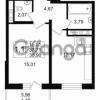 Продается квартира 1-ком 37 м² улица Мира 37, метро Петроградская