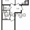 Продается квартира 2-ком 55 м² улица Катерников 1, метро Проспект Ветеранов