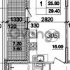 Продается квартира 1-ком 29 м² улица Крыленко 1, метро Улица Дыбенко