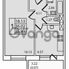 Продается квартира 1-ком 36 м² Дачный проспект 21к 2, метро Проспект Ветеранов