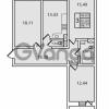Продается квартира 3-ком 88 м² Дачный проспект 21к 2, метро Проспект Ветеранов