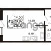 Продается квартира 1-ком 28.08 м² Европейский проспект 14, метро Улица Дыбенко