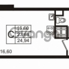 Продается квартира 1-ком 23 м² улица Пионерстроя 29, метро Проспект Ветеранов