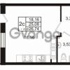 Продается квартира 1-ком 25 м² Комендантский проспект 53к 1, метро Комендантский проспект