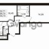 Продается квартира 2-ком 56 м² улица Шувалова 1, метро Девяткино