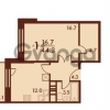 Продается квартира 1-ком 44 м² Петровский бульвар 3, метро Девяткино