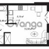 Продается квартира 1-ком 28.75 м² Центральная улица 57, метро Ладожская