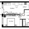 Продается квартира 1-ком 39.55 м² Центральная улица 57, метро Ладожская