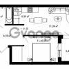 Продается квартира 1-ком 39.85 м² Центральная улица 57, метро Ладожская