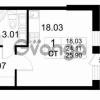 Продается квартира 1-ком 24 м² проспект Строителей 2, метро Улица Дыбенко