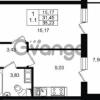 Продается квартира 1-ком 31 м² проспект Строителей 1, метро Улица Дыбенко