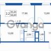Продается квартира 2-ком 58 м² Европейский проспект 1, метро Улица Дыбенко