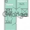 Продается квартира 2-ком 60 м² Ленинградское шоссе 11, метро Проспект Ветеранов