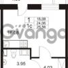 Продается квартира 1-ком 24 м² Немецкая улица 1, метро Улица Дыбенко