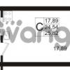 Продается квартира 1-ком 24 м² Европейский проспект 1, метро Улица Дыбенко