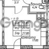 Продается квартира 1-ком 27 м² улица Николая Рубцова 9, метро Парнас