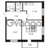 Продается квартира 2-ком 51 м² Комендантский проспект 53к 1, метро Комендантский проспект