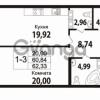 Продается квартира 1-ком 60 м² Кирочная улица 57, метро Чернышевская