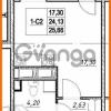 Продается квартира 1-ком 24.13 м² проспект Строителей 7, метро Улица Дыбенко