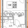 Продается квартира 1-ком 23.8 м² проспект Строителей 7, метро Улица Дыбенко