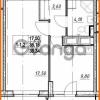 Продается квартира 1-ком 35.18 м² проспект Строителей 7, метро Улица Дыбенко