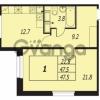 Продается квартира 1-ком 47 м² улица Адмирала Трибуца 7, метро Автово