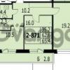 Продается квартира 2-ком 65 м² улица Адмирала Трибуца 7, метро Автово