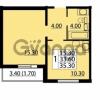 Продается квартира 1-ком 35.3 м² Маршала Блюхера 12АЭ, метро Лесная