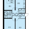 Продается квартира 3-ком 89 м² улица Адмирала Трибуца 5, метро Автово