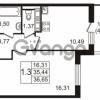 Продается квартира 1-ком 35 м² улица Пионерстроя 27, метро Проспект Ветеранов