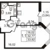 Продается квартира 1-ком 32 м² улица Пионерстроя 27, метро Проспект Ветеранов