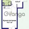 Продается квартира 1-ком 22 м² улица Крыленко 1, метро Улица Дыбенко