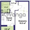 Продается квартира 1-ком 33 м² улица Крыленко 1, метро Улица Дыбенко