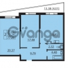 Продается квартира 2-ком 77.25 м² Балтийский бульвар 1, метро Проспект Ветеранов