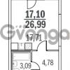 Продается квартира 1-ком 26 м² Шуваловский проспект 40, метро Комендантский проспект