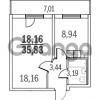 Продается квартира 1-ком 35 м² Шуваловский проспект 40, метро Комендантский проспект