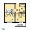 Продается квартира 1-ком 34.4 м² Муринская дорога 7, метро Гражданский проспект